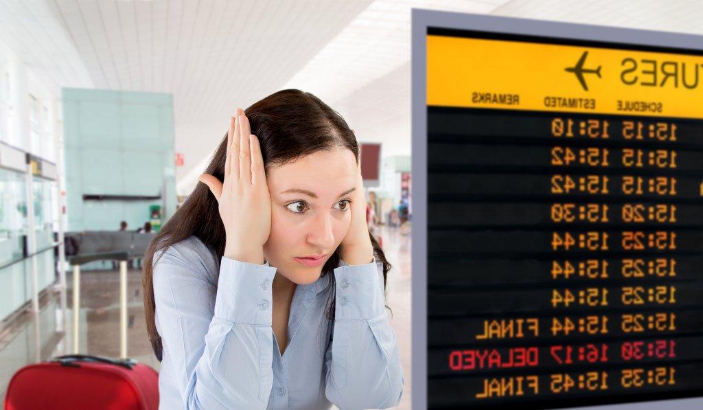 Flyet er forsinket