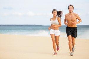 Fitness på stranden