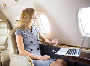 Ombord på fly